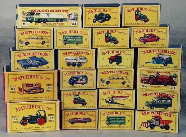 023: 22 MATCHBOX EMPTY ORIG BOXES