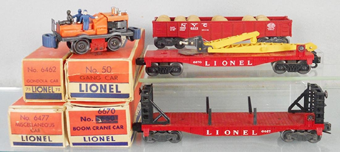 4 LIONEL FRIEGHT CARS