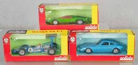 3 SOLIDO RACE CARS