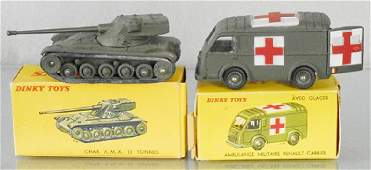 2 FRENCH DINKY MILITARY VEHICLES