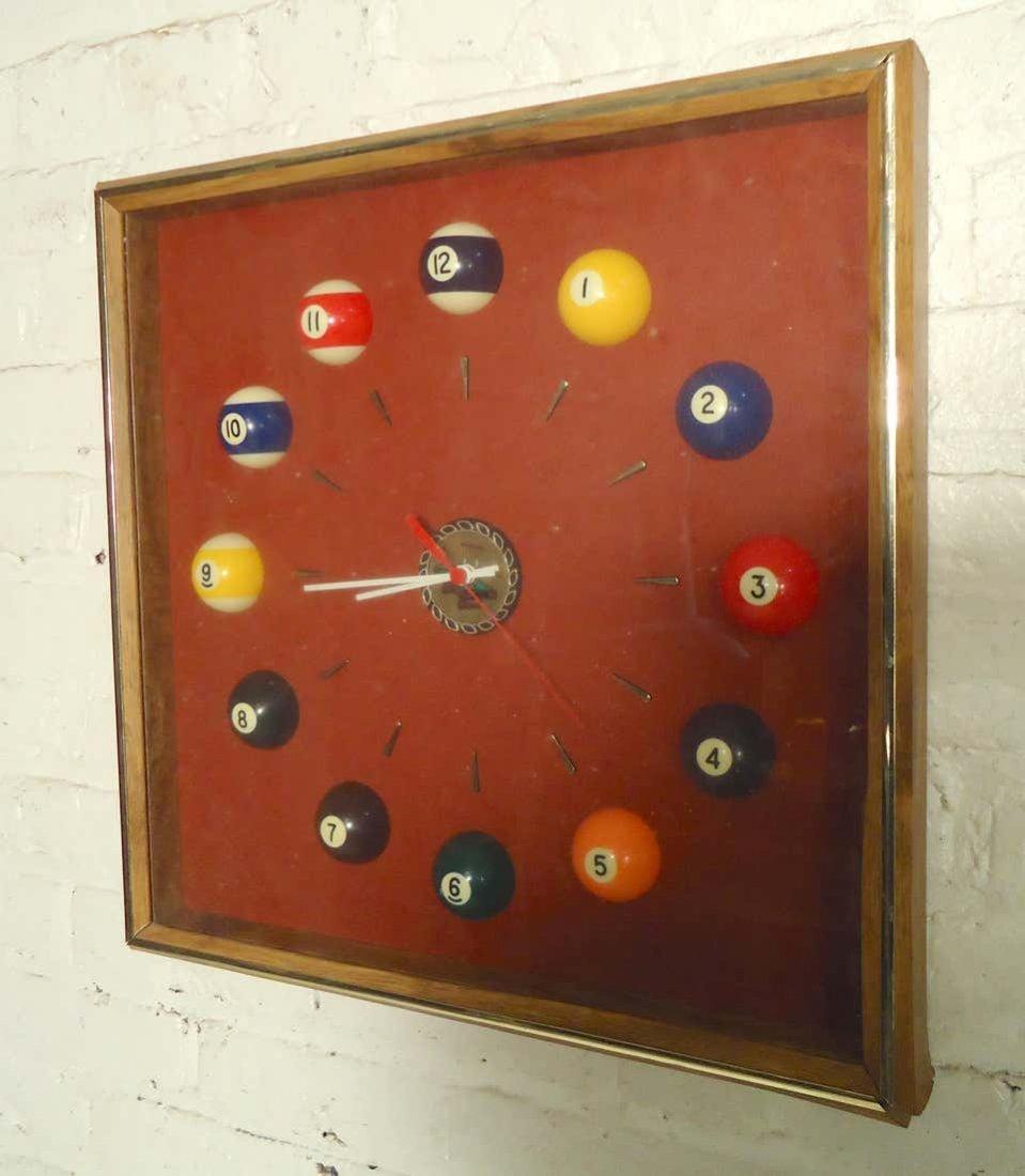 Midcentury Billiard Clock