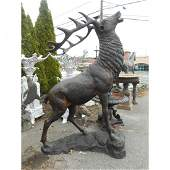 Life-Sized Bronze Stag Statue