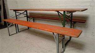 Painted Picnic Table And Benches