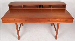 Beautiful Mid-Century Modern Teak Flip-Top Desk