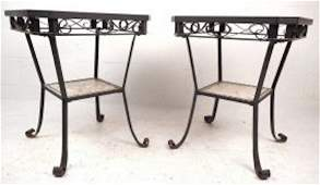 Contemporary Modern Mosaic Tile End Tables