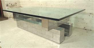 Paul Evans Chrome Coffee Table