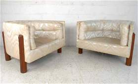 Tufted MidCentury Modern Barrel Back Chairs