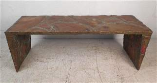 Midcentury Mixed Metal Coffee Table by Silas Seandel