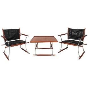 Jens Quistgaard Lounge Chairs and Table