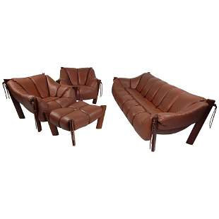 Midcentury Brazilian Percival Lafer Living Room Set