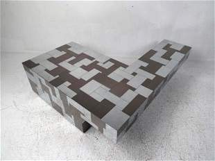 "Paul Evans ""L"" Shaped Coffee Table"
