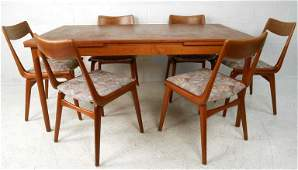 Danish Modern Dining Room Table with Chairs