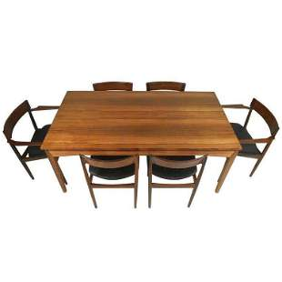 Rosewood Dining Room Set by Henry Rosengren Hansen