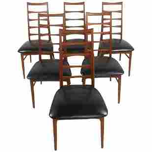 Niels Kofoed Ladder Back Dining Chairs for Raymor