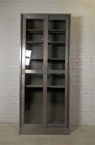 Industrial Metal Sliding Glass Door Cabinet