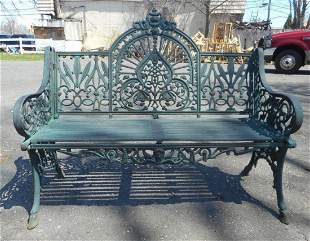 Cast Iron Bench With Arched Back