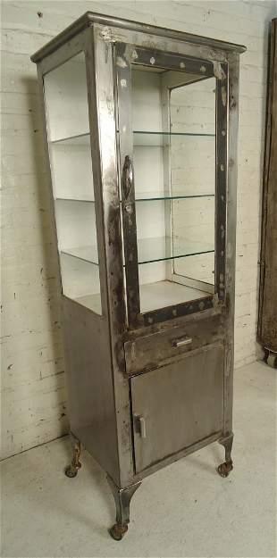 Restored Industrial Display Cabinet
