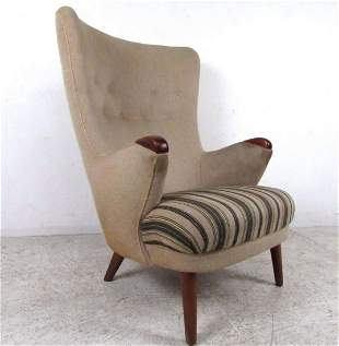 Mid-Century High Back Lounge Chair