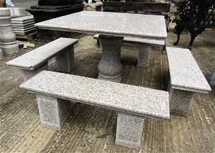 Stone Patio Dining Set