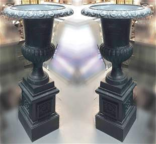 Pair Large Urns w/ Bases