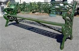 Iron Sculpted Bench