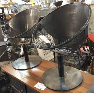 Pair Iron Chairs