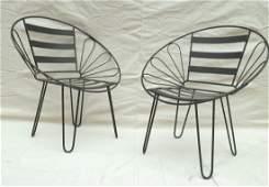 Pair Iron Patio Chairs