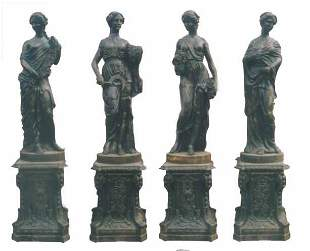 """Set of Four Statues """"The Four Seasons"""""""