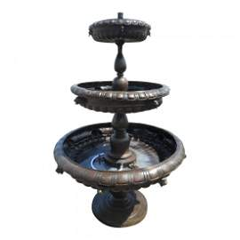 Bronze Three-Tier Fountain
