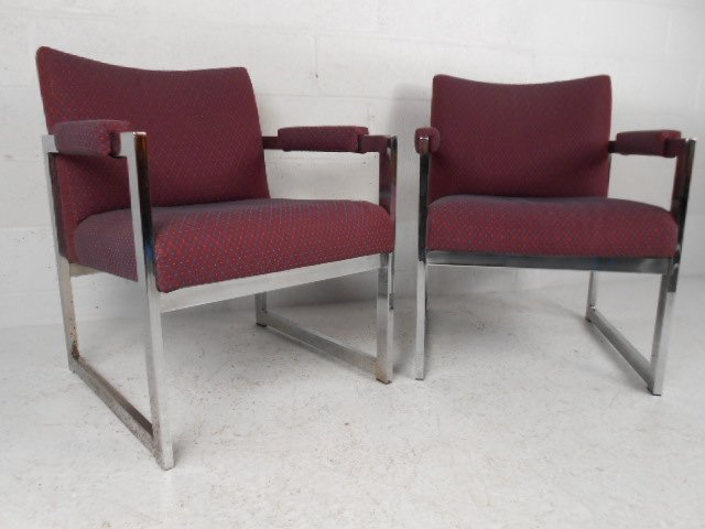 Pair Mid Century Lounge Chairs