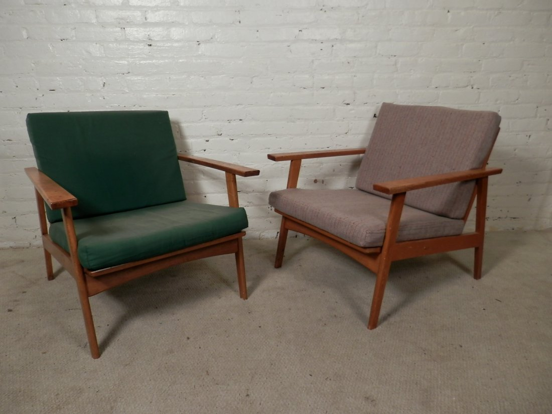 Pair Mid-Century Modern Arm Chairs