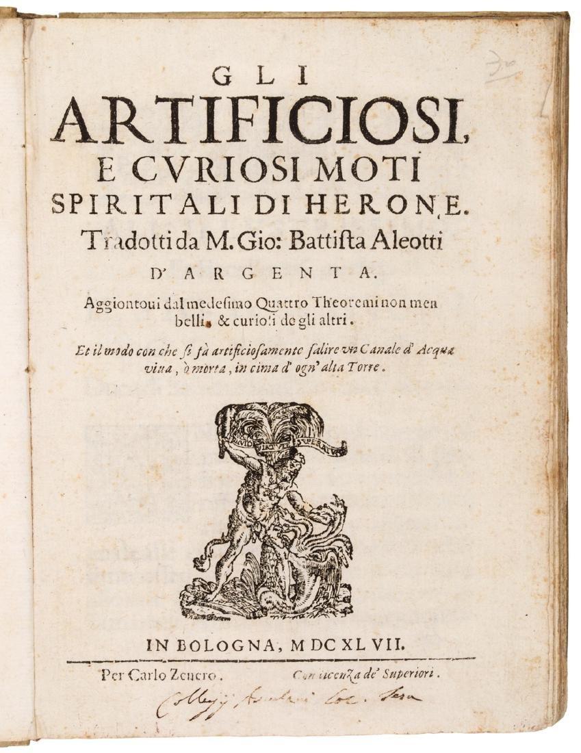 Alexandrinus Heron , Aleotti Giovanni Battista. Gli