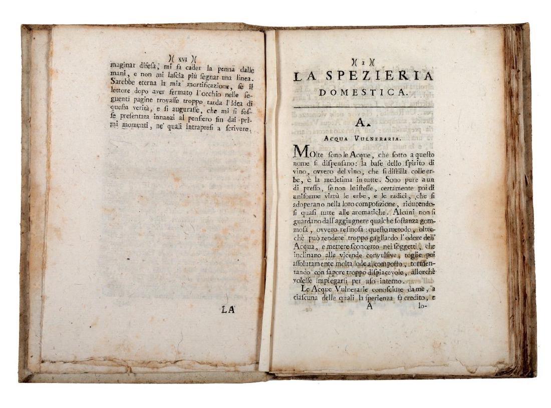 Azzoguidi Germano. La Spezieria domestica... Edizione