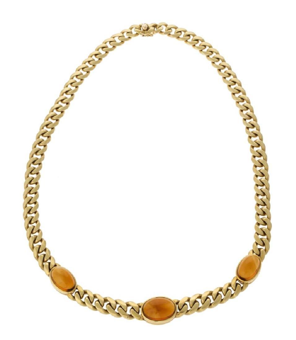 Bulgari, collier in oro giallo 18ct