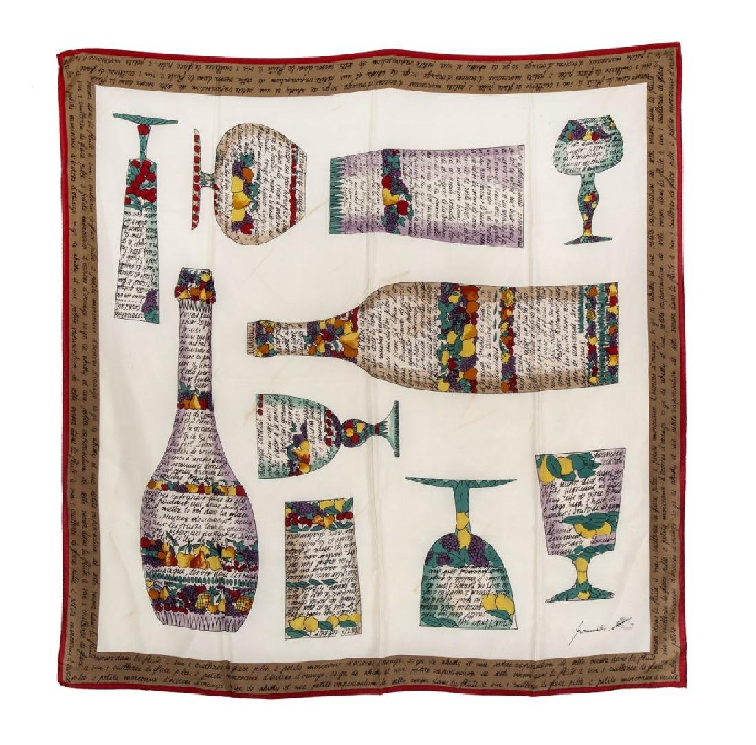 Fornasetti, foulard in seta