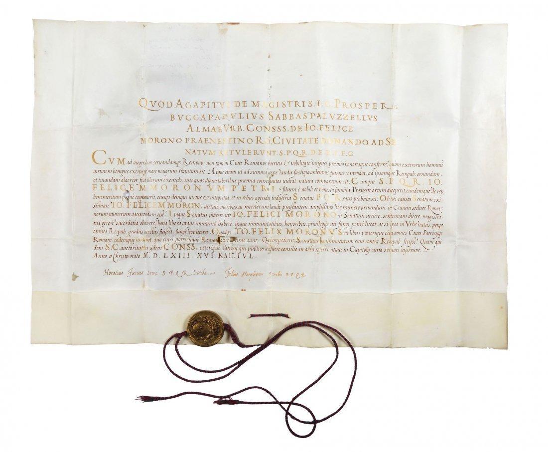 Diploma di cittadinanza romana con sigillo