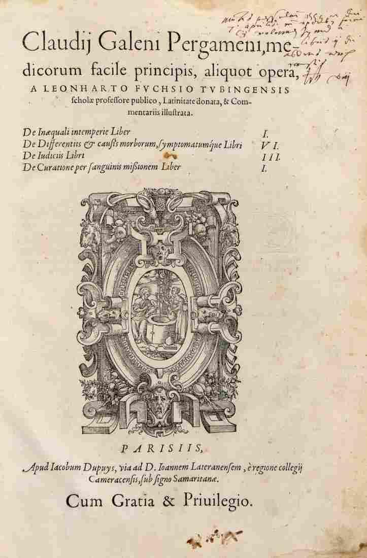 Galenus Claudius, 1549