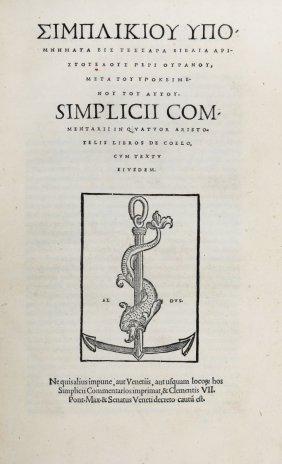 Simplicius, 1526