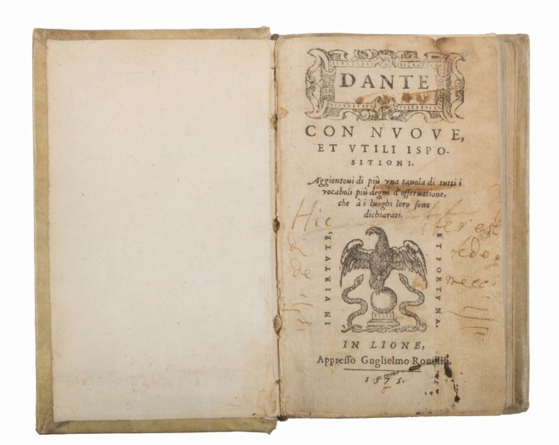 Alighieri Dante. Dante con nuove et utili ispositioni.
