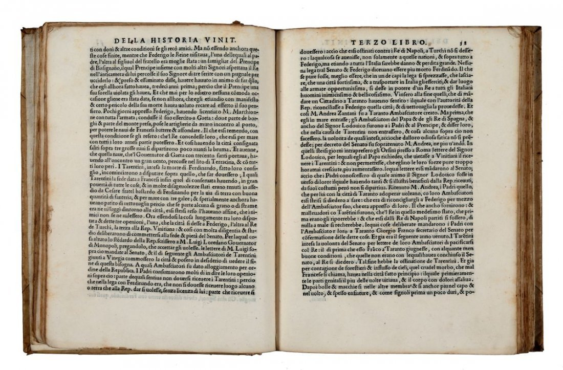 Bembo Pietro. Della Historia Vinitiana... In Vinegia: - 3