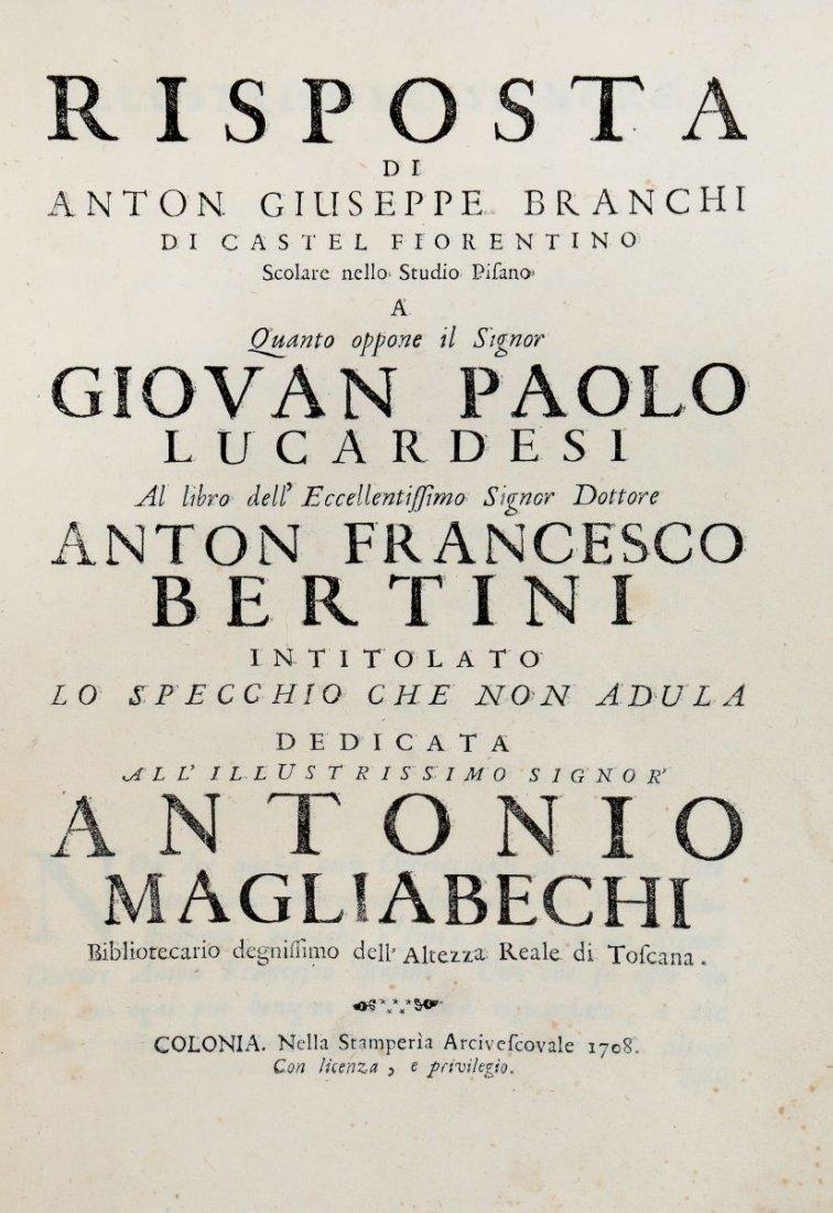Bertini Anton Francesco. Risposta di Anton Giuseppe