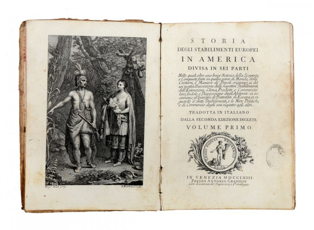 Burke Edmund. Storia degli stabilimenti Europei in