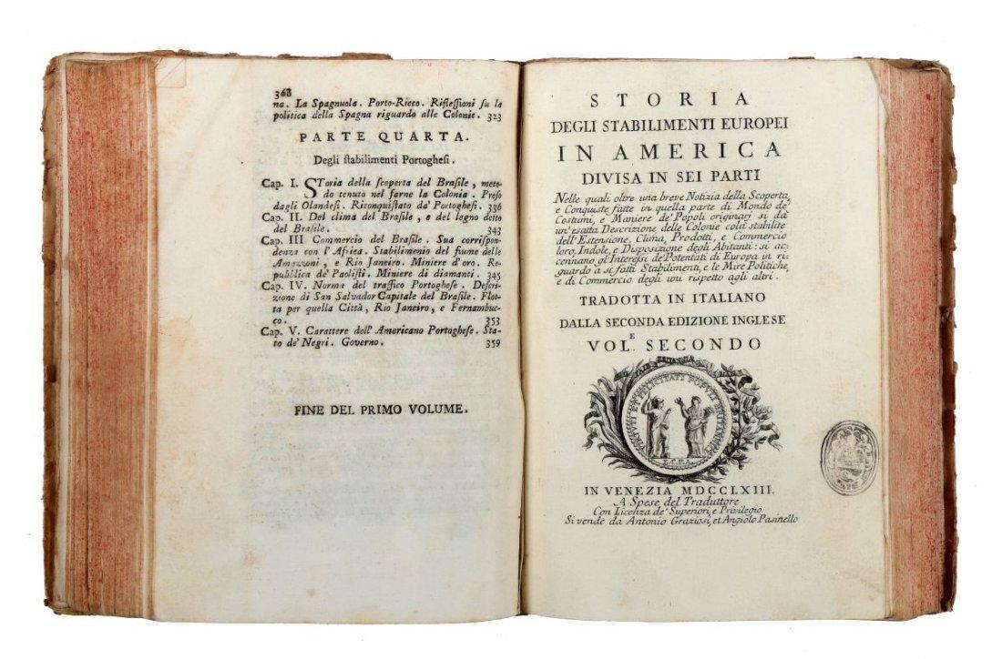 Burke Edmund. Storia degli stabilimenti Europei in - 2