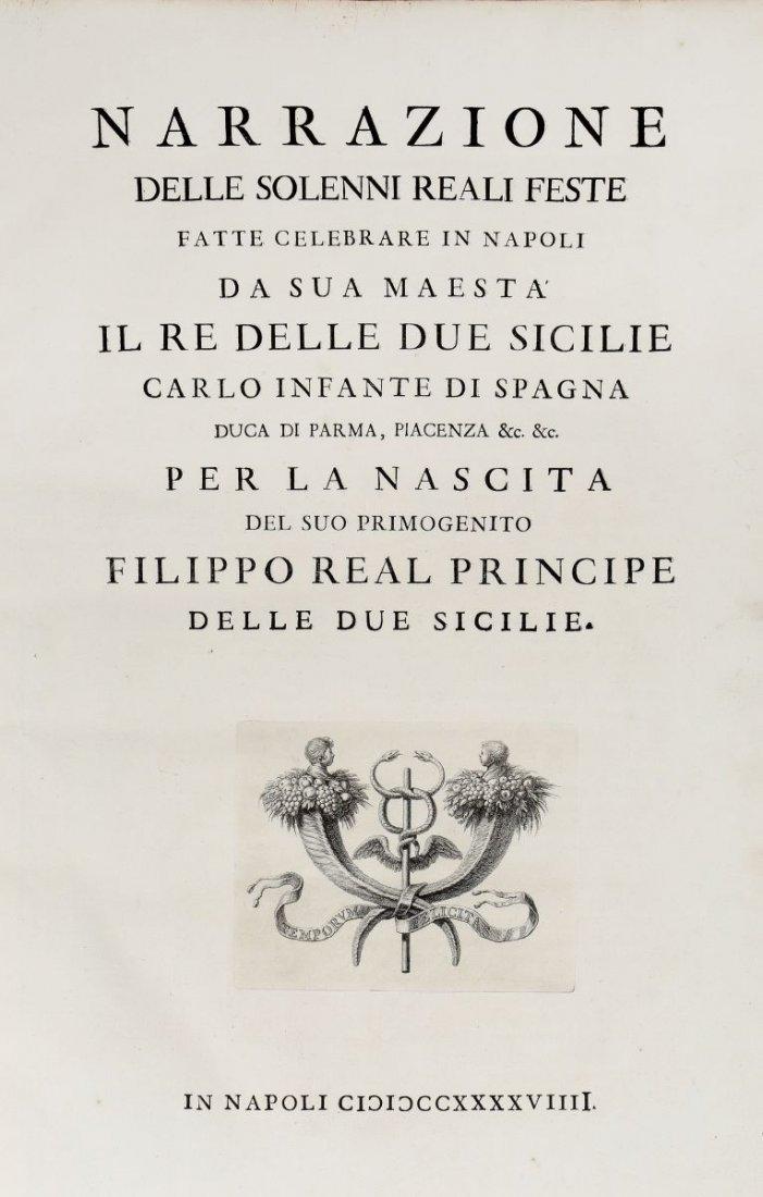 Del Re Vincenzo. Narrazione delle solenni reali feste