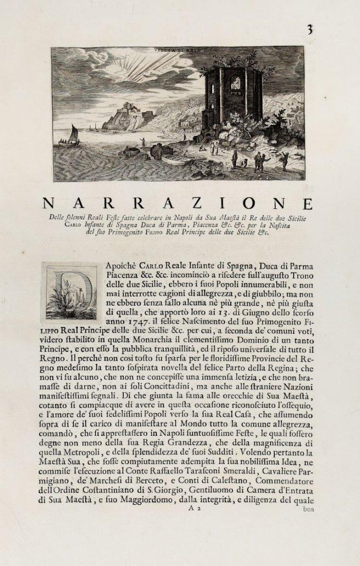 Del Re Vincenzo. Narrazione delle solenni reali feste - 2