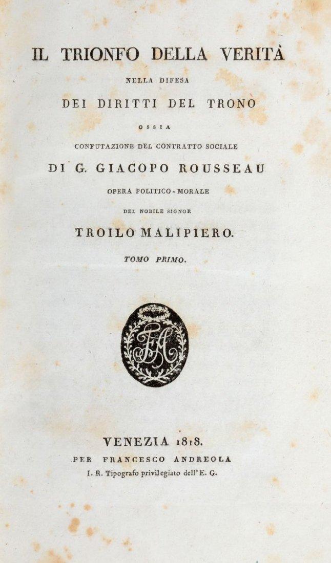 Malipiero Troilo. Il Trionfo della Verità nella