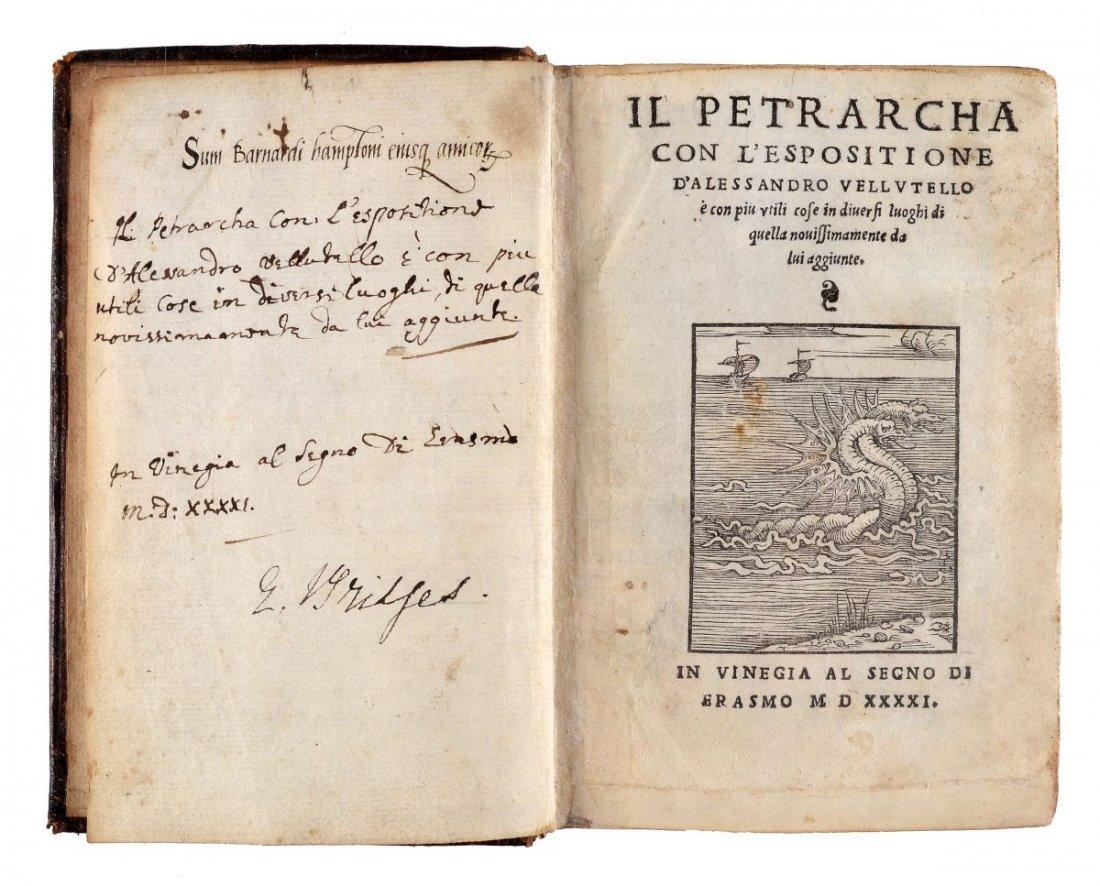 Petrarca Francesco. Il Petrarcha con l'espositione - 3