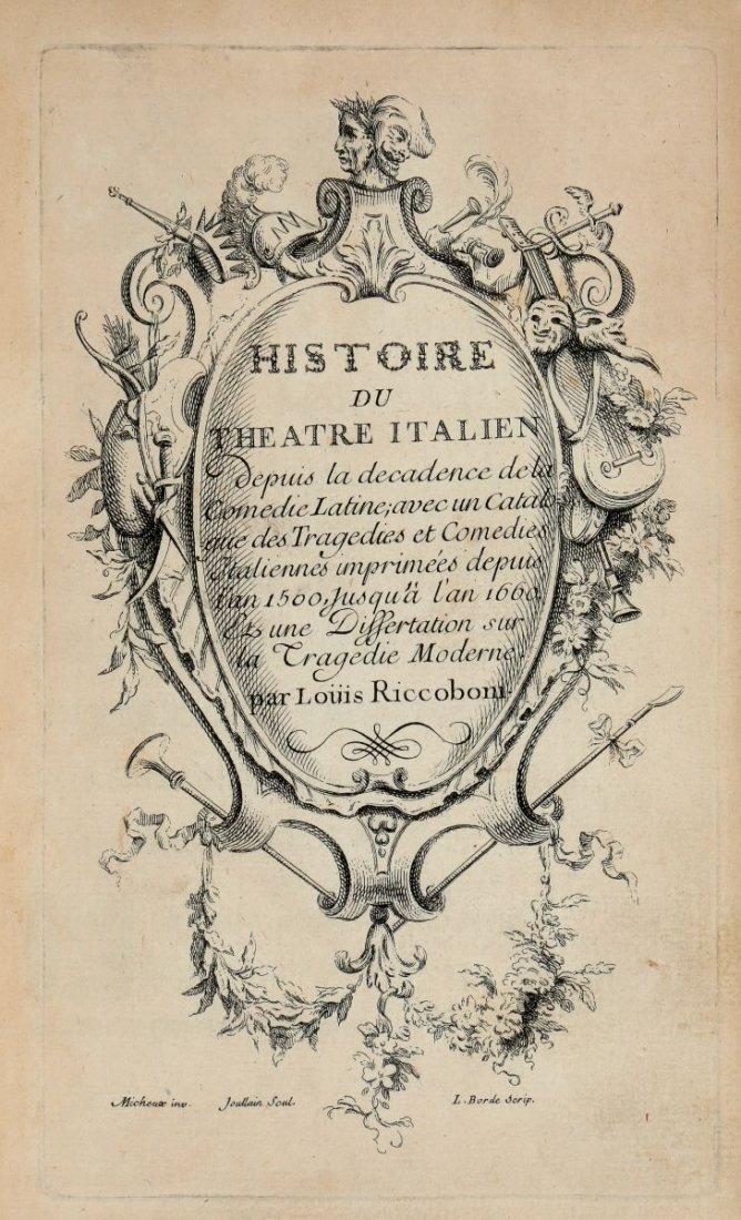 Riccoboni Luigi. Histoire du Theatre Italien... (Al