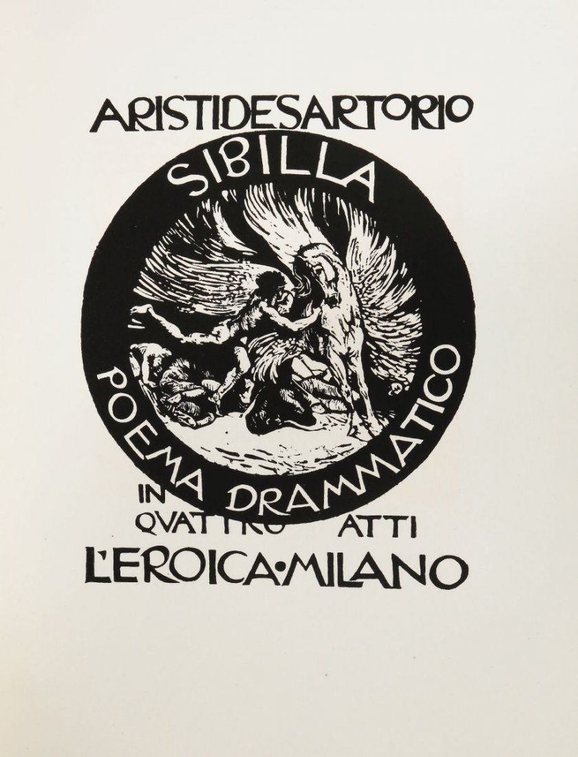 Sartorio Giulio Aristide. Sibilla. Milano: L'Eroica, - 3