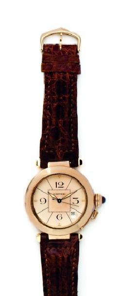 Cartier, orologio Pasha in oro giallo. Cartier, an 18ct